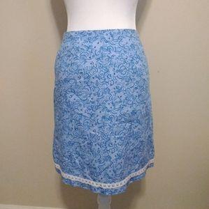 Lilly Pulitzer lion design skirt